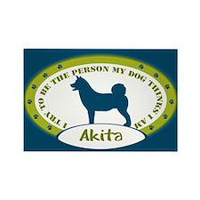 American Akita Rectangle Magnet (10 pack)