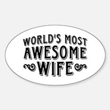 World's Most Awesome Wife Decal