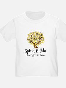 Spina Bifida Ribbon Tree T-Shirt