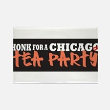 Chicago Tea Party Rectangle Magnet