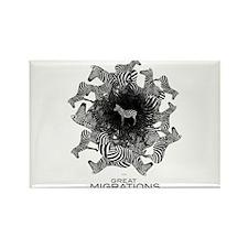 Zebras Rectangle Magnet