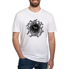Zebras Unisex Fitted White T-Shirt