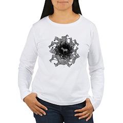 Zebras Women's Long Sleeve White T-Shirt