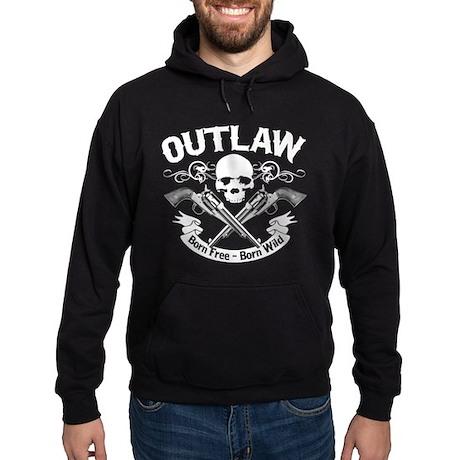 Outlaw: Born Free, Born Wild - Hoodie (dark)