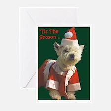Christmas Westie Greeting Cards (Pk of 20)