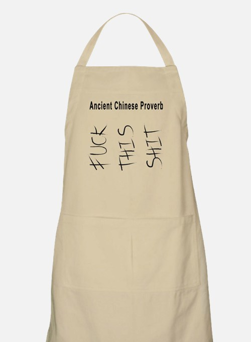 Ancient Chinese Proverbs Apron