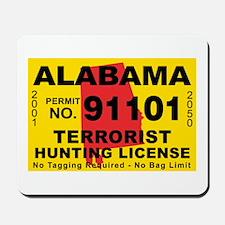 Alabama Terrorist Hunting Lic Mousepad