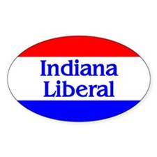 Indiana Liberal Oval Decal