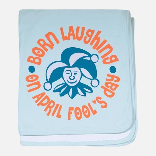 April Fool's Birthday baby blanket