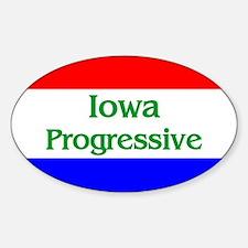 Iowa Progressive Oval Decal