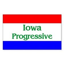 Iowa Progressive Rectangle Decal