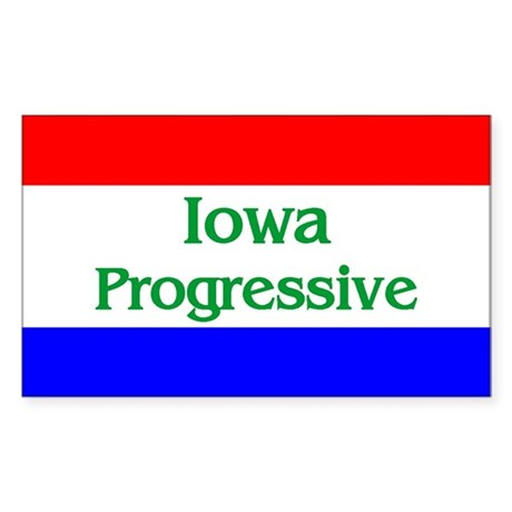 Iowa Progressive Rectangle Sticker