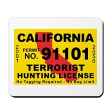 California Terrorist Hunting Mousepad
