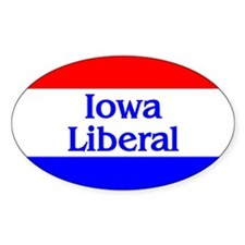 Iowa Liberal Oval Decal