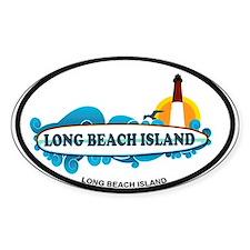 Long Beach Island NJ - Surf Design Decal