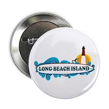 "Long Beach Island NJ - Surf Design 2.25"" Button"