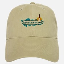 Long Beach Island NJ - Surf Design Baseball Baseball Cap