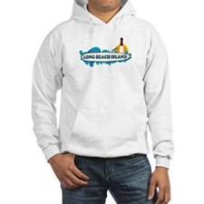 Long Beach Island NJ - Surf Design Hoodie