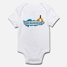 Long Beach Island NJ - Surf Design Infant Bodysuit