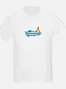 Long Beach Island NJ - Surf Design T-Shirt