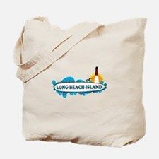 Long Beach Island NJ - Surf Design Tote Bag