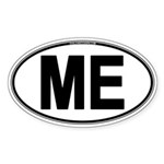 (ME) Euro Oval Sticker (Oval 50 pk)