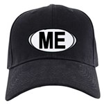 (ME) Euro Oval Black Cap