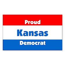 Proud Kansas Democrat Rectangle Decal