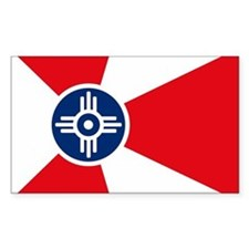 Wichita City Flag Rectangle Decal