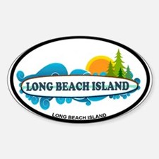 Long Beach Island NJ - Surf Design Decal