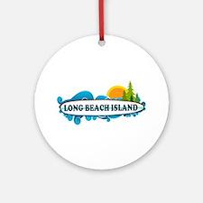 Long Beach Island NJ - Surf Design Ornament (Round