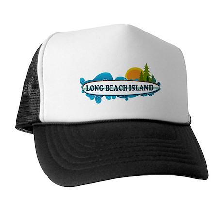Long Beach Island NJ - Surf Design Trucker Hat