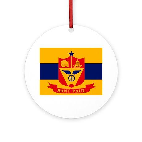 St. Paul City Flag Ornament (Round)