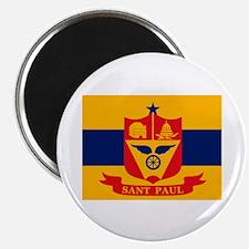 """St. Paul City Flag 2.25"""" Magnet (10 pack)"""