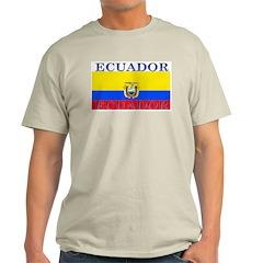 Ecuador Ecuadorian Flag Ash Grey T-Shirt