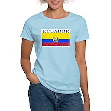 Ecuador Ecuadorian Flag Women's Pink T-Shirt