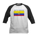 Ecuador Ecuadorian Flag Kids Baseball Jersey