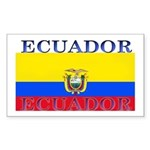 Ecuador Ecuadorian Flag Rectangle Sticker