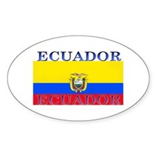 Ecuador Ecuadorian Flag Oval Decal