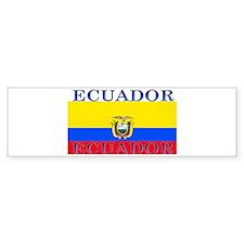 Ecuador Ecuadorian Flag Bumper Bumper Sticker
