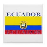Ecuador Ecuadorian Flag Tile Coaster