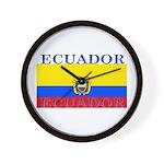 Ecuador Ecuadorian Flag Wall Clock