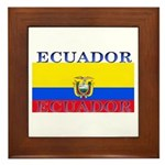 Ecuador Ecuadorian Flag Framed Tile