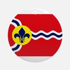 St. Louis Flag Ornament (Round)