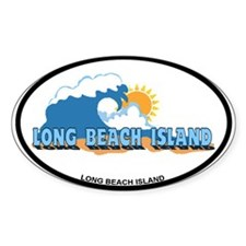 Long Beach Island NJ - Waves Design Decal