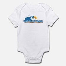Long Beach Island NJ - Waves Design Infant Bodysui