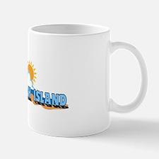 Long Beach Island NJ - Waves Design Mug