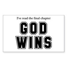 God Wins Decal