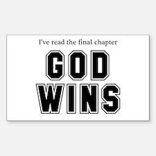 God Wins Decal
