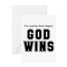 God Wins Greeting Card